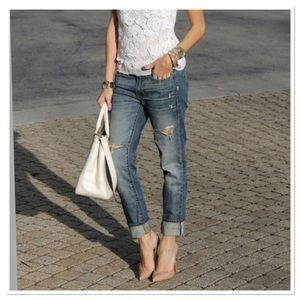 J. Crew Astor wash boyfriend jean distressed denim
